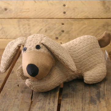 Dog Doorstop - Beige String Door Stop