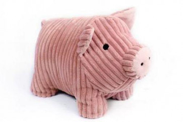 Take Me Home Doorstop Ribbed Fabric Pig Door Stop