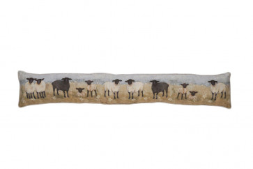 Charming Country Sheep Meadow Scene Door Draught Excluder ~ Door Draught Cushion