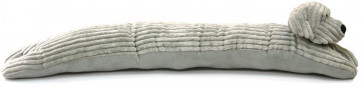 Take Me Home Ribbed Fabric Dog Draught Excluder ~ Grey