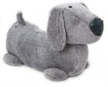 Take Me Home Dachshund Sausage Dog Doorstop Decorative Door Stop ~ Grey