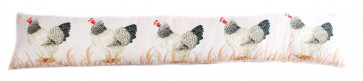 Fabric Chicken Hen Draught Excluder Cushion 85cm
