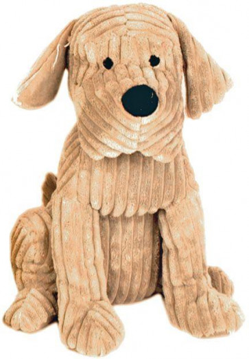Take Me Home Door Stop - 28Cm Ribbed Tan Dog Doorstop