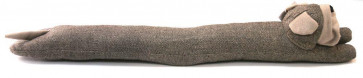 Take Me Home Draught Excluder ~ Brown Herringbone Bulldog