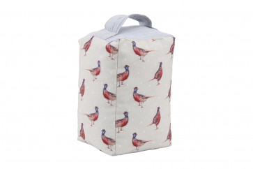 Holly House Country Fabric Pheasant Doorstop ~ Pheasant Door Stop