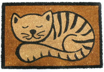 Cat Doormat 60Cm X 40Cm ~ Natural Coir Cat Door Mat Brown