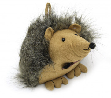 Grey Brown Fluffy Hedgehog Animal Doorstop ~ Decorative Door Stop