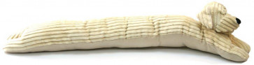 Take Me Home Ribbed Fabric Dog Draught Excluder ~ Vanilla