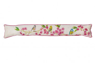 Floral Birds Draught Excluder ~ Door Draught Cushion