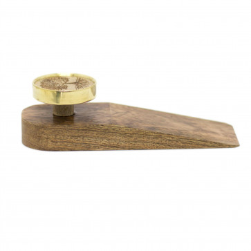 Tree Of Life Wooden Door Wedge | Family Tree Decorative Door Stopper | Wide Wooden Door Stops Wedge - Colour Varies One Supplied