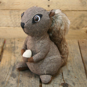 Squirrel Fabric Doorstop ~ Brown Squirrel Door Stop