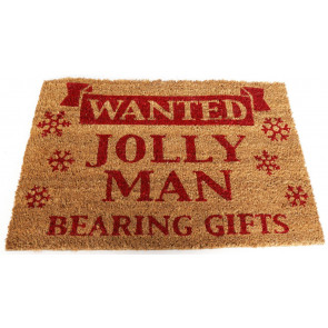 Pvc Backed Non Slip Natural Coir Christmas Doormat