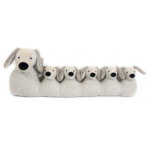 71cm Grey Dog Draught Excluder ~ Door Draught Cushion